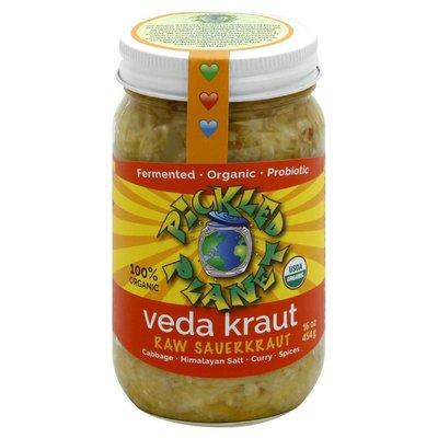 Pickled Planet Sauerkraut, Raw, Veda Kraut