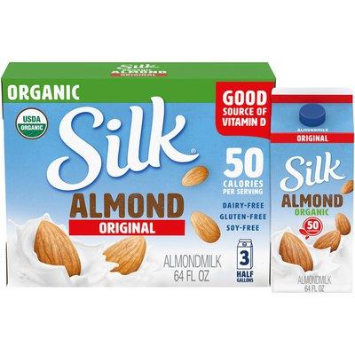 Silk Original Organic Almond Milk 3/64 oz