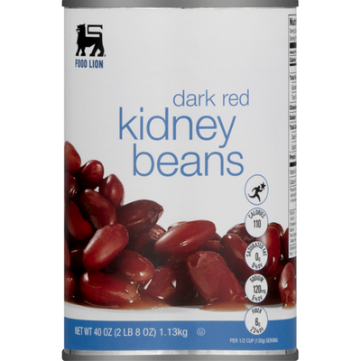 Food Lion Kidney Beans, Dark Red, Can