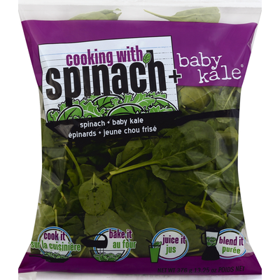 Cooking with Spinach + Baby Kale! Spinach plus Baby Kale