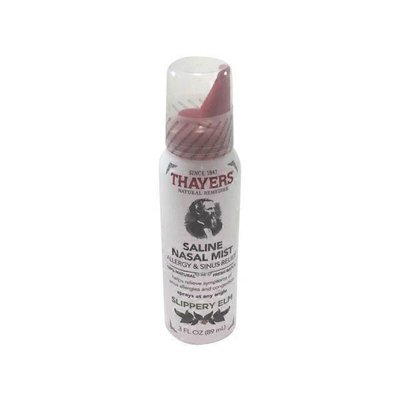 Thayers Natural Remedies Saline Nasal Mist Allergy & Sinus Relief Slippery Elm