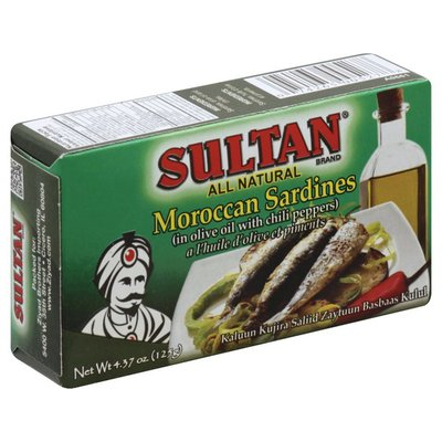 Sultan Sardines, Moroccan, in Olive Oil with Chili Peppers