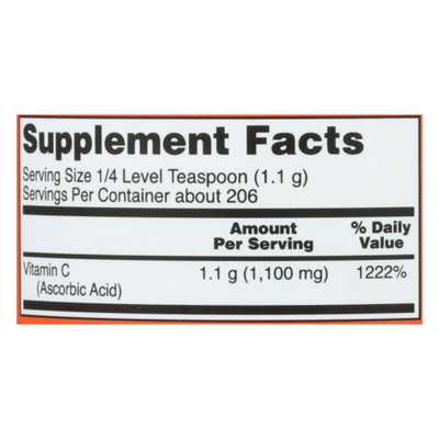 Now Vitamin C Crystals Ascorbic Acid Antioxidant Protection Dietary Supplement Pure Powder