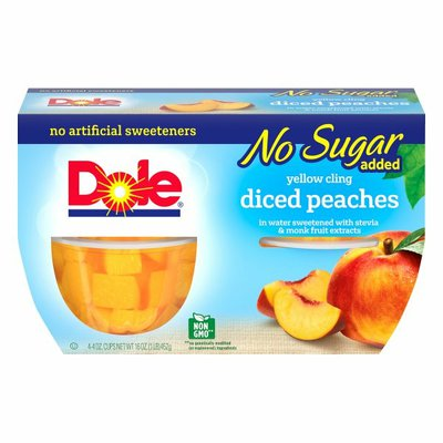 Dole No Sugar Added Yellow Cling Diced Peaches