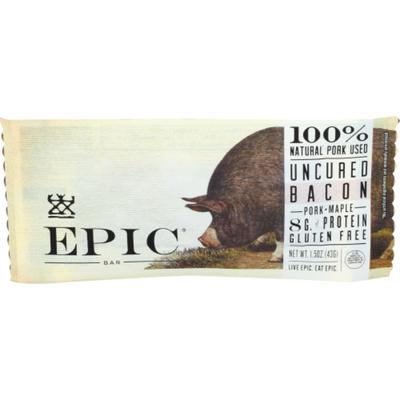 Epic Bar, Gluten Free, Uncured, Bacon + Pork
