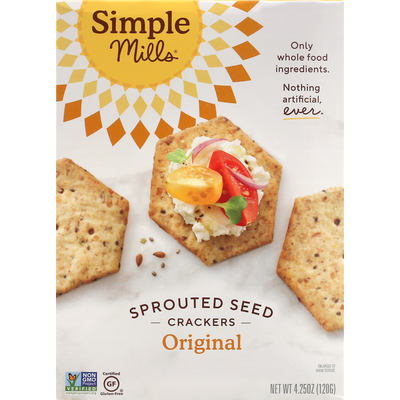 Simple Mills Original Sprouted Seed Crackers