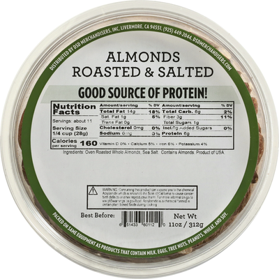 DSD Merchandisers Almonds, Roasted & Salted