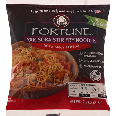 Fortune Yakisoba Stir Fry Noodle, Hot & Spicy Flavor