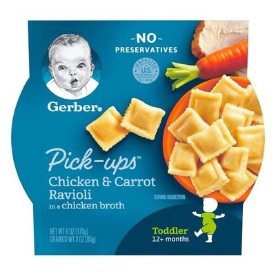 Gerber Chicken and Carrot Ravioli Packed in Chicken Broth