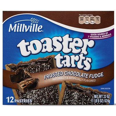 Millville Toaster Tarts Frosted Chocolate Fudge Flavored Pastries