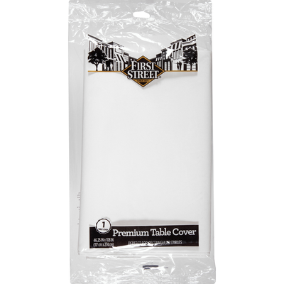 First Street Table Cover, Premium, White