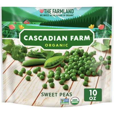 Cascadian Farm Organic, Non-GMO Sweet Peas, Frozen Vegetables