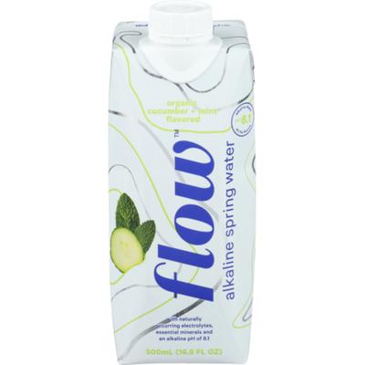 Flow Alkaline Spring Water Organic Cucumber + Mint