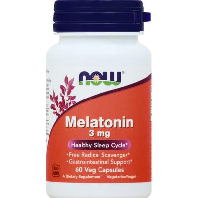 Now Melatonin, 3 mg, Veg Capsules