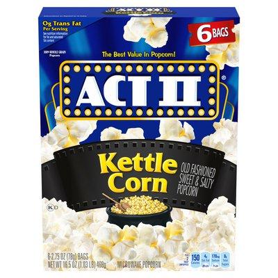 Act II Kettle Corn Microwave Popcorn