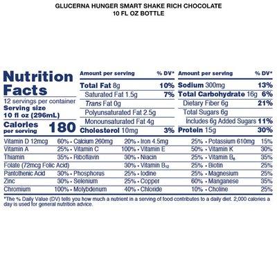 Glucerna Hunger Smart Diabetes Nutritional Shake Rich Chocolate