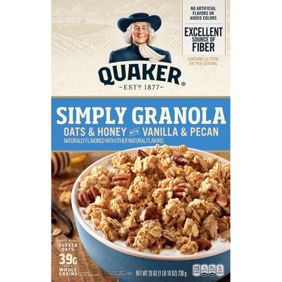 Quaker Simply Granola Oats Honey Vanilla Pecan Cereal