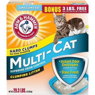 Arm & Hammer Unscented Multi-Cat Superior Odor Control Clumping Arm & Hammer Multi-Cat Clumping Litter