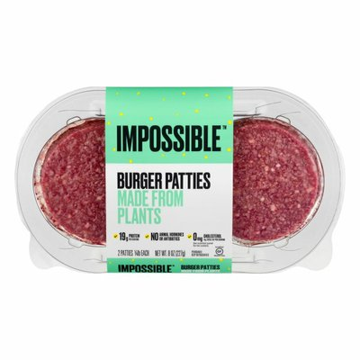 Impossible Foods Burger Patties Made From Plants