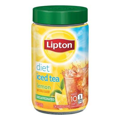 Lipton Iced Tea Diet Decaffeinated Lemon