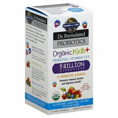 Garden of Life Probiotics, Organic Kids+, Yummy Chewables