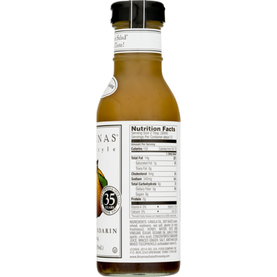 Brianna's Home Style Dressing Saucy Ginger Mandarin