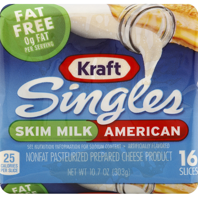 Kraft Singles Skim Milk American Cheese Slices