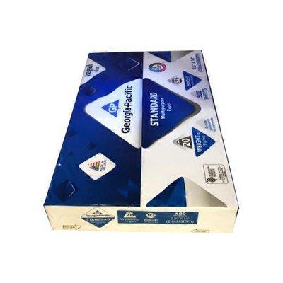 "Georgia-Pacific 8.5"" x 14"" Legal 20 Pound 92 Brightness Standard Multipurpose Paper"