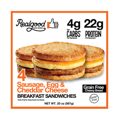 Real Good Foods Sausage, Egg, and Cheese Breakfast Sandwiches