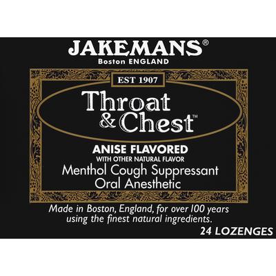 Jakemans Throat & Chest, Lozenges, Anise Flavored