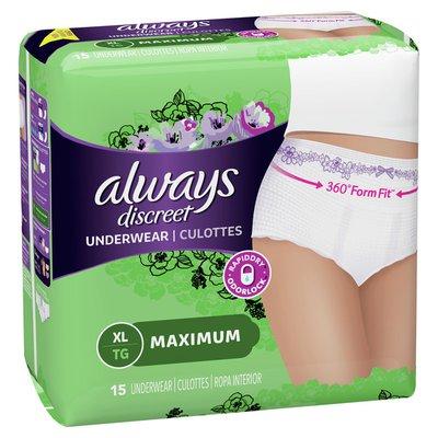 Always Incontinence Underwear for Women Maximum