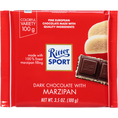 Ritter Sport Dark Chocolate, with Marzipan