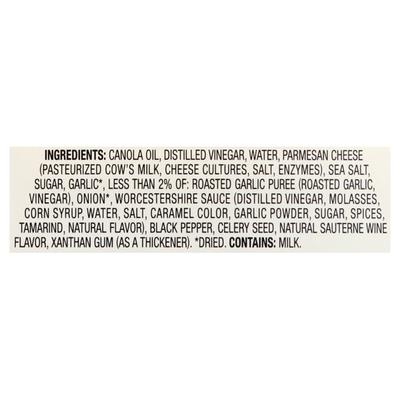 Newman's Own Dressing, Parmesan & Roasted Garlic