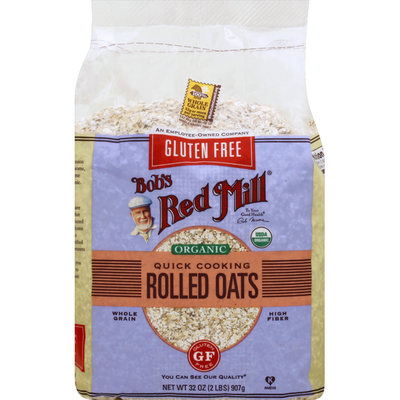 Bob's Red Mill Rolled Oats, Gluten Free, Organic, Quick Cooking