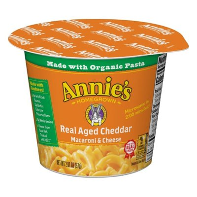 Annie's Real Aged Cheddar Macaroni & Cheese, Microwavable Mac & Cheese