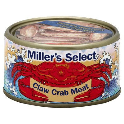 Millers Select Crab Meat, Claw
