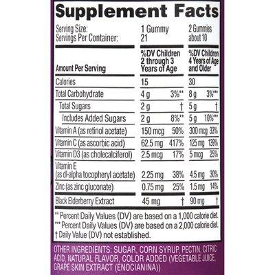 Zarbee's Naturals Children's Elderberry Immune Support, Vitamin C & Zinc, Berry