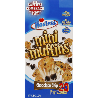 Hostess Muffins, Mini, Chocolate Chip