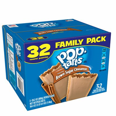 Kellogg's Pop-Tarts Toaster Pastries, Family Pack, Family Pack, Frosted Brown Sugar Cinnamon