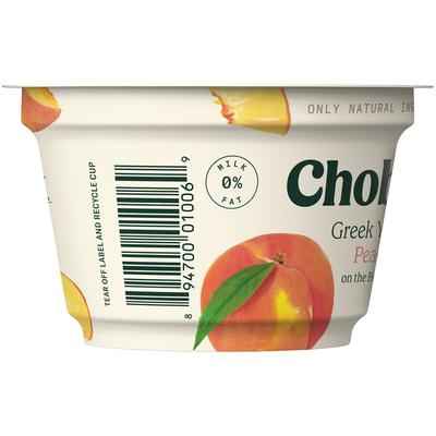 Chobani Peach on the Bottom Non-Fat Greek Yogurt