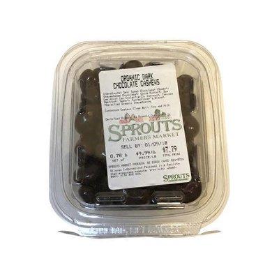Organic Dark Chocolate Cashews, Package