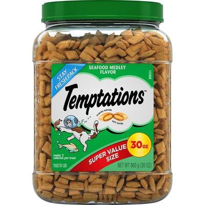 Temptations Crunchy and Soft Cat Treats Seafood Medley Flavor