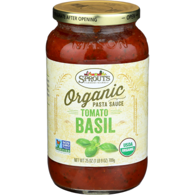 Sprouts Organic Tomato Basil Pasta Sauce