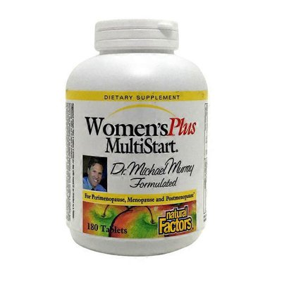 Natural Factors Women's Plus MultiStart for Perimenopause, Menopause and Postmenopause Formula Tablets