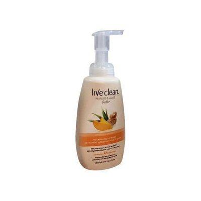 Live Clean Mango Aloe Foaming Body Wash