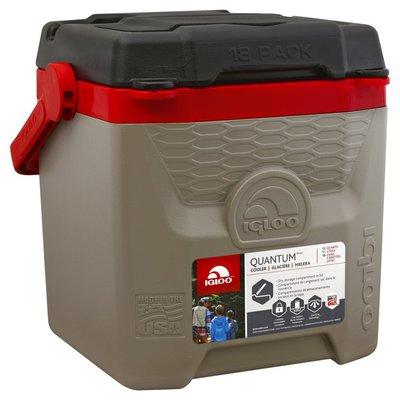 Igloo Cooler, Sand/Red, 12 Quarts