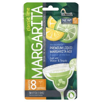 teVenti Margarita Mix, Classic Lime, Premium Liquid