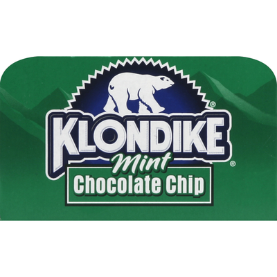 Klondike Frozen Dairy Dessert Bars Mint Chocolate Chip