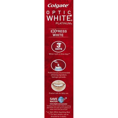Colgate Toothpaste, Anticavity Fluoride, Express White, Fresh Mint