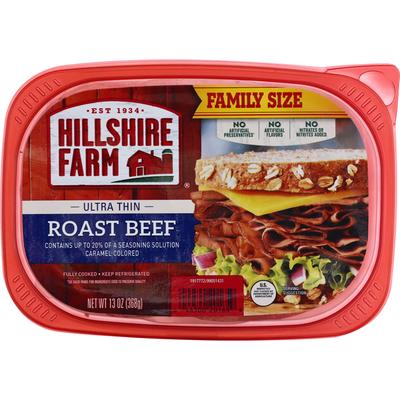 Hillshire Farm Roast Beef, Ultra Thin, Family Size
